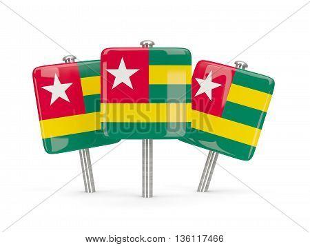 Flag Of Togo, Three Square Pins