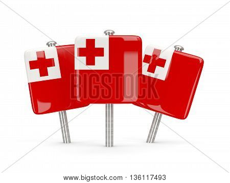Flag Of Tonga, Three Square Pins
