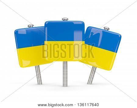 Flag Of Ukraine, Three Square Pins