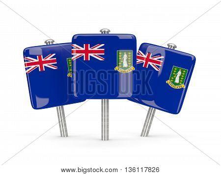 Flag Of Virgin Islands British, Three Square Pins