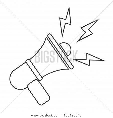 simple black line megaphone icon vector illustration