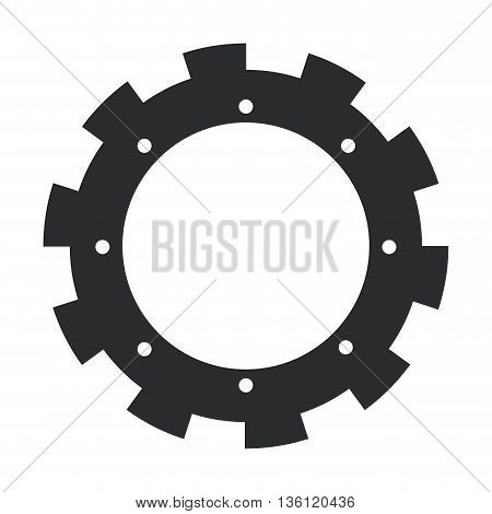 grey simple flat design of gear icon vector illustration