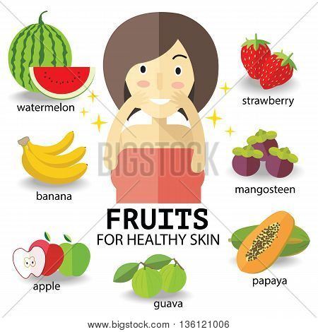 fruits for heathy skin eps 10 format