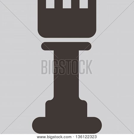 Silhouette of a chess piece - chess castle icon