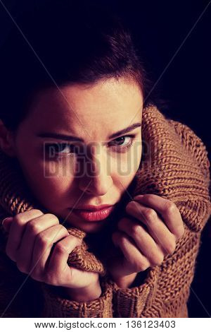 Young woman is having depression.