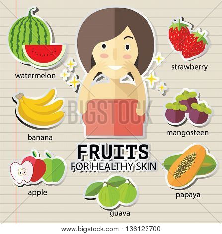 fruits for heathy skin eps 10 format