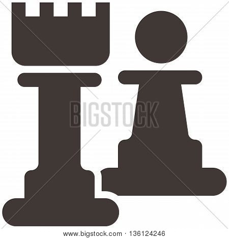 Silhouette of a chess piece - chess pawn and castle icon