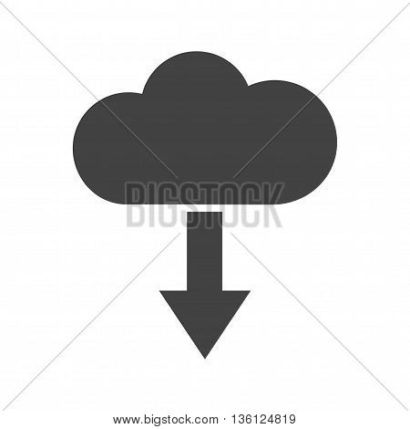 Cloud, download, internet icon vector image.Can also be used for networking. Suitable for mobile apps, web apps and print media.