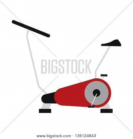 simple flat design spinning bike icon vector illustration