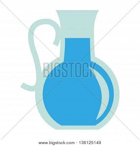 simple flat design pitcher with blue liquid icon