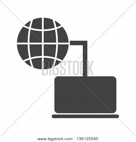 Laptop, computer, wireless icon vector image. Can also be used for networking. Suitable for use on web apps, mobile apps and print media.
