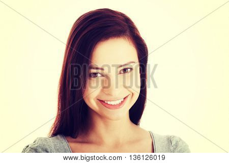 Portrait of casual young woman.