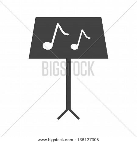 Music, stand, musical icon vector image. Can also be used for music. Suitable for web apps, mobile apps and print media.