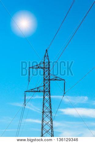 Electricity Pylon Isolated