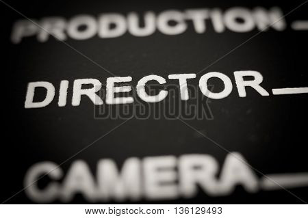 Director Label On Movie Clapper Board