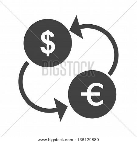 Currency, exchange, finance icon vector image. Can also be used for shopping. Suitable for use on web apps, mobile apps and print media.