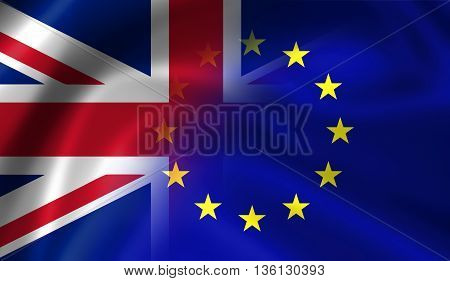 United Kingdom And European Union Flags