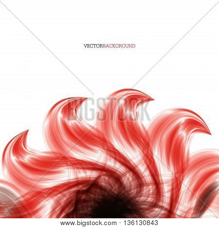 cover. vector background with abstract fire leaves