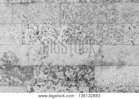 abstract spotty texture of an old stone wall for speckled background and for wallpaper of monochrome tone