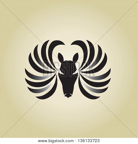 pegasus logo ideas design vector on background