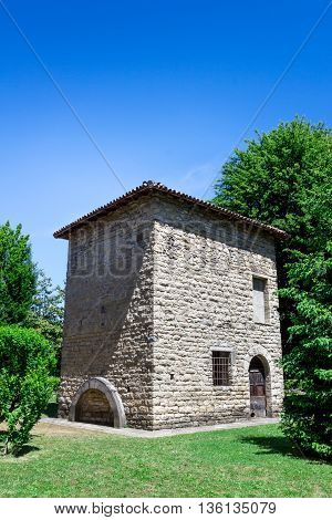 Ancient Italian mill renovated and no longer used