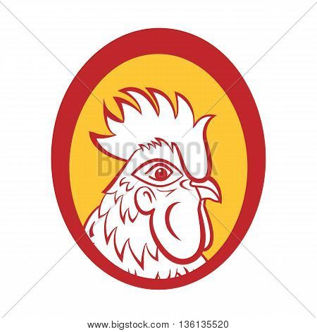 Rooster logo mascot. Isolated rooster head vector illustration