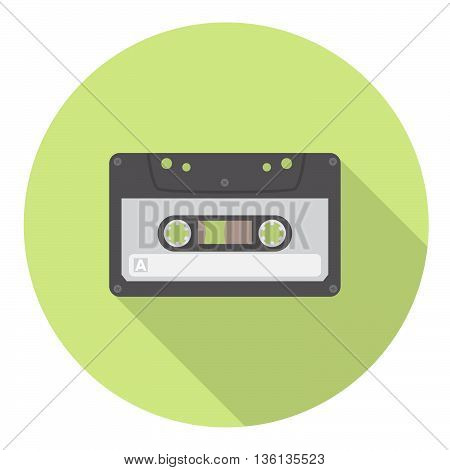Audio Retro Cassette Flat Style Design Icon