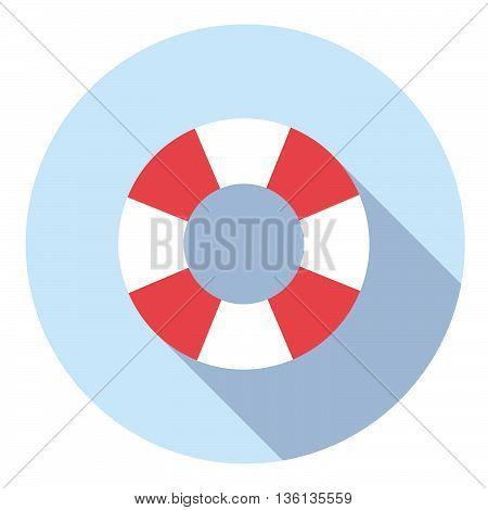 Lifebuoy Saving Equipment Flat Icon