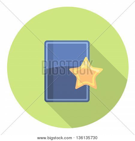 Bookmark Favorites Star Flat Style Design Icon