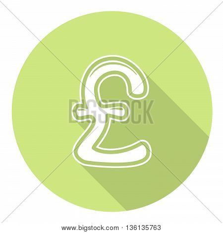 Great Britain Pound Flat Icon