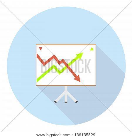 Stock Chart Board Flat Icon