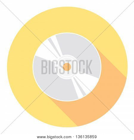 Compact Disk Symbol Flat Style Design Icon