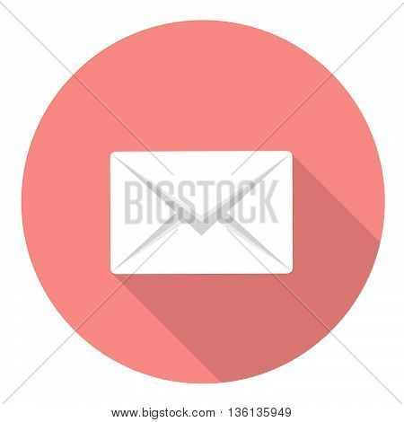 Mail Envelope Symbol Flat Style Design Icon