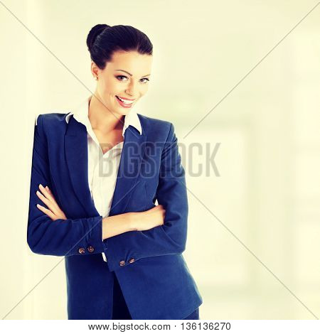 Businesswoman or student in elegant clothes