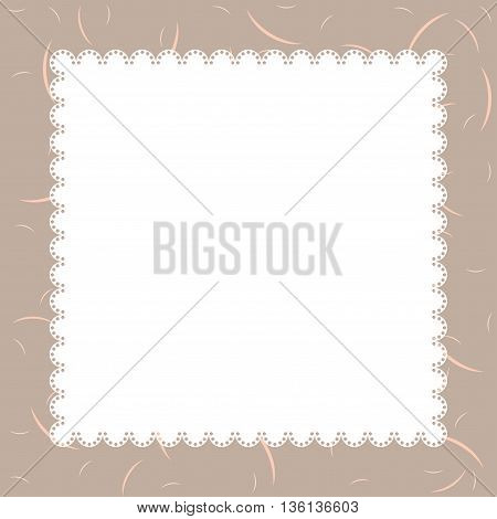 Template for greeting card and wedding invitation.