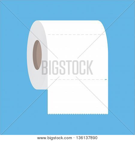 Toilet paper flat icon. Modern flat icons vector