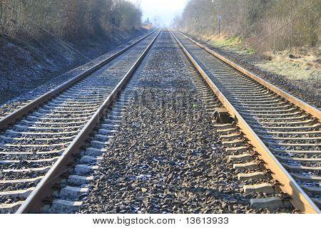 Railroad Tracks. Rails