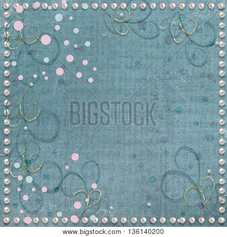 Abstract Vintage Paper Background With Swirls And Geometric Figures