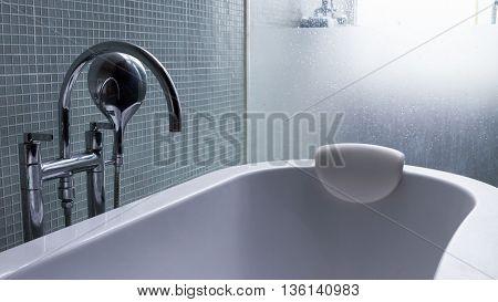 Bathtub In Modern Bathroom