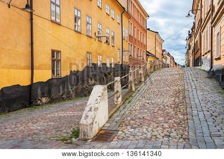 Houses on Brannkyrkagatan. Sodermalm Stockholm Sweden Scandinavia