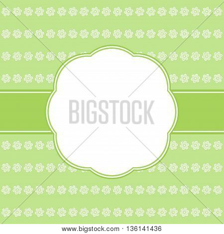 Template birthday greeting card elegant green illustration