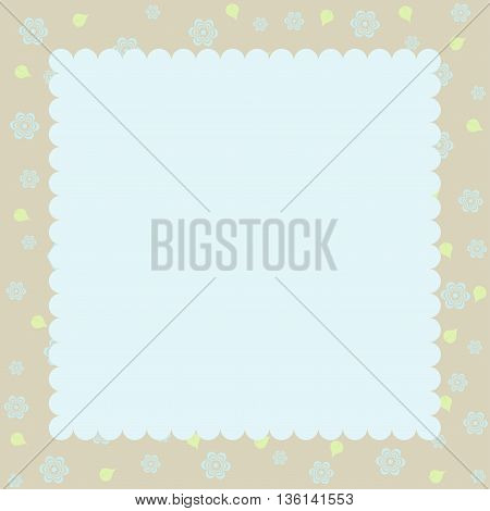 Template of birthday and greeting card - template cute simple design