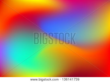 Abstract horizontal blur colorful gradient background with red, yellow, blue, cyan and green colors for deign concepts, web, presentations and prints. Vector illustration.