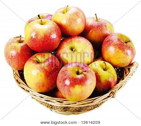 Fresh Red Apples Isolated