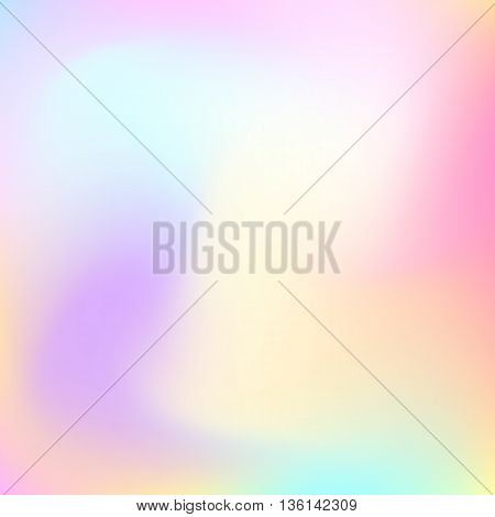 Abstract blur gradient background with trend pastel pink, purple, violet, yellow and blue colors for deign concepts, web, presentations and prints. Vector illustration.