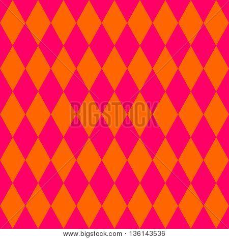 Tile orange and pink pattern or vector background wallpaper