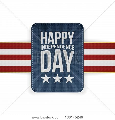 Happy Independence Day patriotic Banner. Vector Illustration