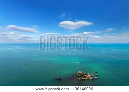 bird's-eye photo an aerial view of Crimea