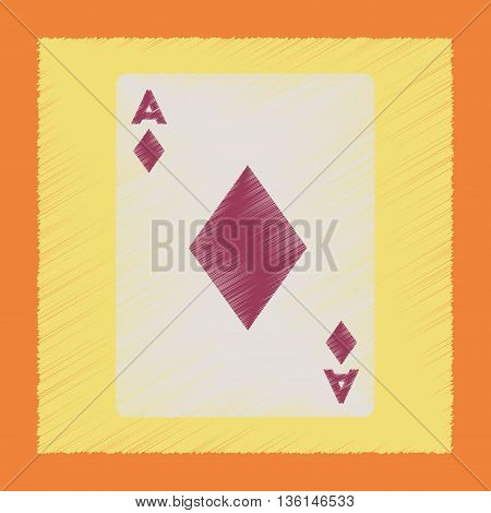 flat shading style icon poker playing cards