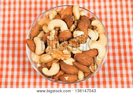 Nuts, almonds and walnuts and cashew nuts